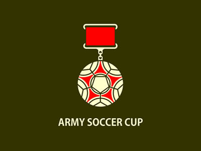 Army soccer cup football logo design