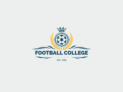 Collegue football logo design