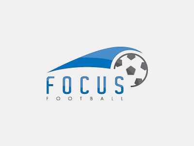 Focus football logo design