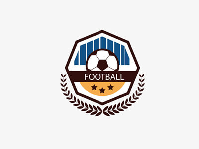 Football fc club logo design