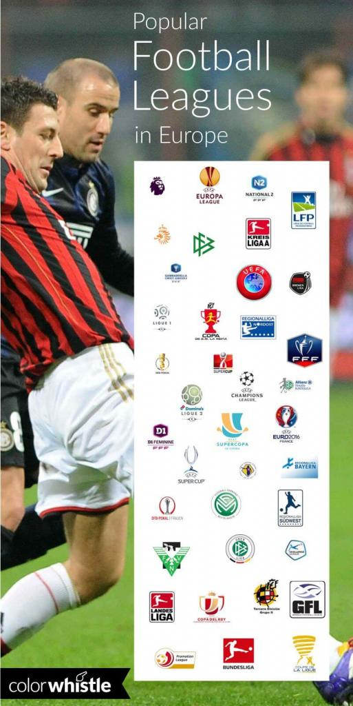 Football leagues in Europe logo