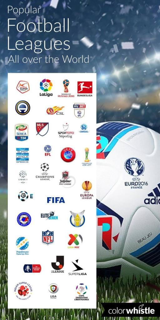 Football leagues around world logo