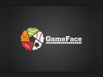 Game face football logo design