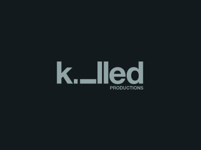 Killed text logo design
