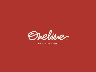 Oneline font logo design