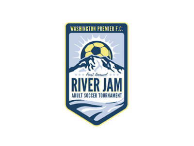River jam football logo design