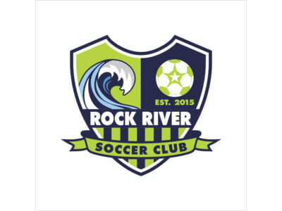Rock river football logo design