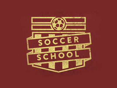 Soccer school football logo design
