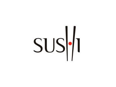 Sushi font logo design