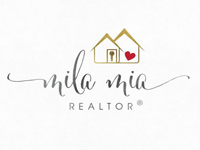 Mila MIa Land Real Estate Logo Design