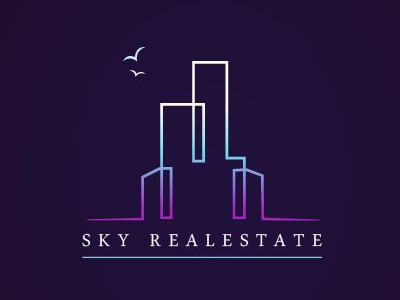 Sky Commercial Real Estate Logo Design